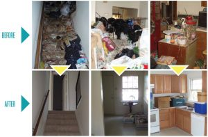 hoarding cleaning - before and after