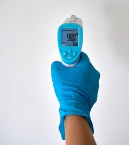 digital thermometer as used by ServiceMaster by T.A. Russell and ServiceMaster of Albuquerque & West Mesa technicians before disinfection cleaning services